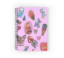 Melanie's tattoos  Spiral Notebook
