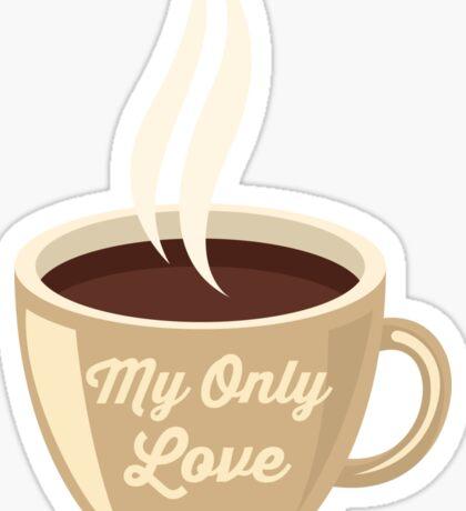 Love Coffee Sticker