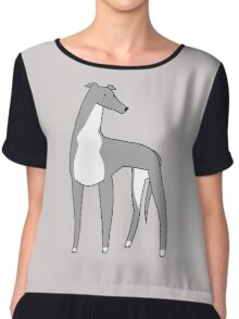 Italian Greyhound Chiffon Top