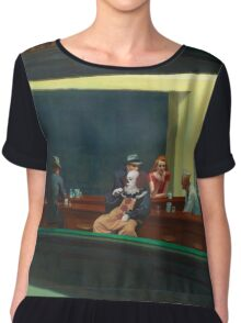 Pennywise in Hopper's Nighthawks Chiffon Top