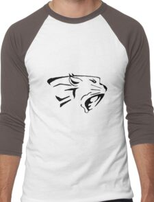 Big Cat Tribal Vector Men's Baseball ¾ T-Shirt