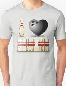 I love bowling - ball T-Shirt