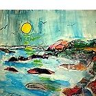 another o'reilly original painting moonstone beach  by Timothy C O'Reilly