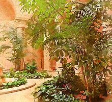 In the Courtyard by Eileen McVey