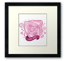 Hungry Cube Framed Print