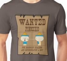 Wanted: Pinocchio Unisex T-Shirt