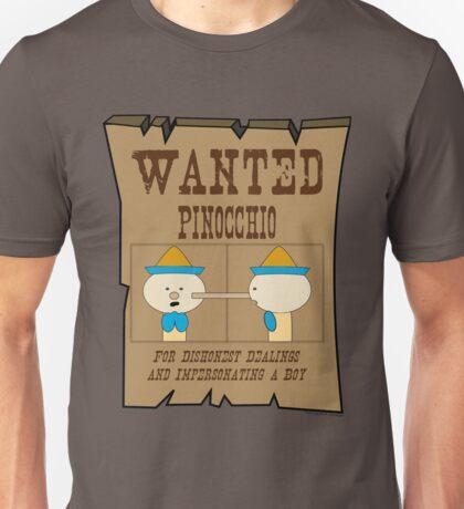 Wanted: Pinocchio Unisex T-Shirt