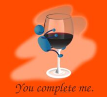 You complete me -- wine Kids Clothes