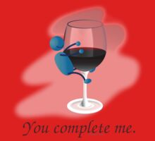 You complete me -- wine One Piece - Short Sleeve