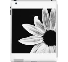 Monochrome Sunflower iPad Case/Skin