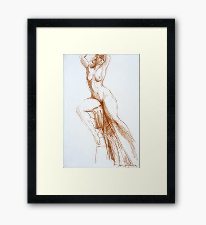 Stretching Figure Framed Print