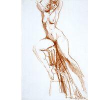 Stretching Figure Photographic Print