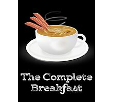 Bacon and Coffee: the Complete Breakfast (dark) Photographic Print