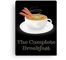 Bacon and Coffee: the Complete Breakfast (light) Canvas Print