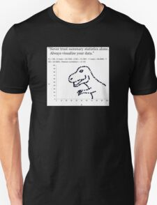 Datasaurus: Never trust summary statistics alone. Always visualize your data Unisex T-Shirt