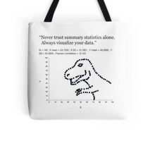 Datasaurus: Never trust summary statistics alone. Always visualize your data Tote Bag
