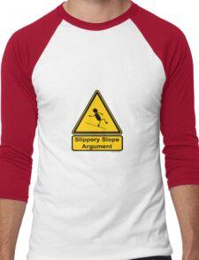 Slippery Slope Argument Men's Baseball ¾ T-Shirt
