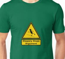 Slippery Slope Argument Unisex T-Shirt