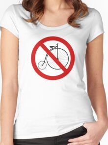 Ban olde-timey bikes Women's Fitted Scoop T-Shirt
