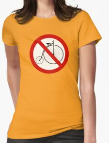 Ban olde-timey bikes Womens Fitted T-Shirt