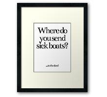 Bad Jokes! Framed Print