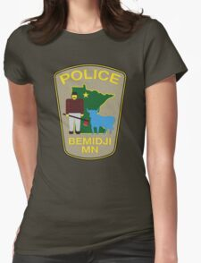 POLICE Bemidji MN  \ Fargo Womens Fitted T-Shirt