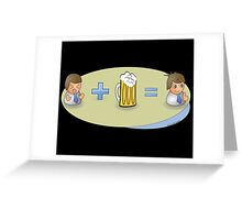 Sad + Beer = Awesome Greeting Card