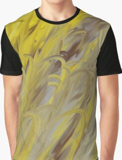 Yellow Grey and Brown Graphic T-Shirt