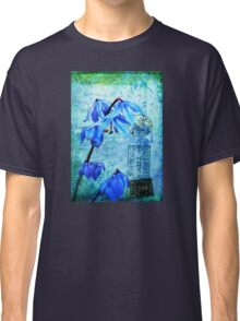Bluebells on Vintage Postcard Classic T-Shirt