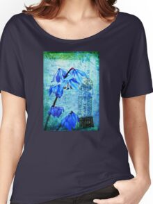 Bluebells on Vintage Postcard Women's Relaxed Fit T-Shirt