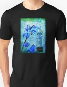 Bluebells on Vintage Postcard Unisex T-Shirt