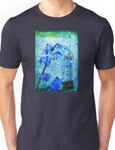 Bluebells on Vintage Postcard Unisex T-Shirt