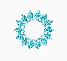pattern fish blue- circle fish Unisex T-Shirt