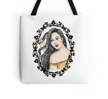 girl in the mirror in colors Tote Bag
