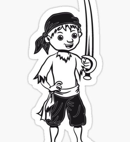 Pirat junge spass spielen  Sticker