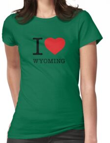 I ♥ WYOMING Womens Fitted T-Shirt