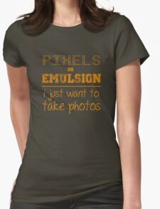 Pixels or Emulsion Womens Fitted T-Shirt