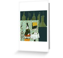 Wine and Cookies Greeting Card