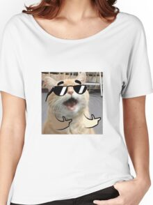 Cool Cat on it Women's Relaxed Fit T-Shirt