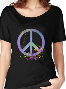 Peace Sign Blue 1 Women's Relaxed Fit T-Shirt