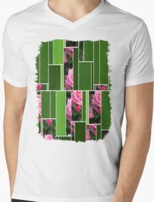 Pink Roses in Anzures 1 Art Rectangles 12 Mens V-Neck T-Shirt
