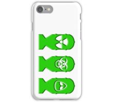 Green ZOMBIE Bombs  iPhone Case/Skin