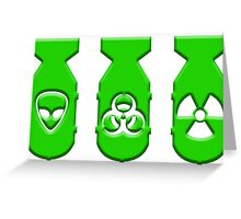 Green ZOMBIE Bombs  Greeting Card