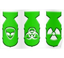 Green ZOMBIE Bombs  Poster