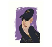 Phil Hellmuth Professional Poker Player Caricature Art Print
