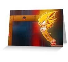 Super Sonic Greeting Card