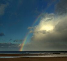 Rainbow over the North Sea by Ian Alex Blease