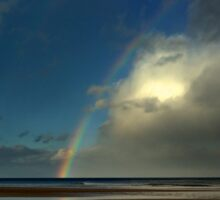 Rainbow over the North Sea Sticker
