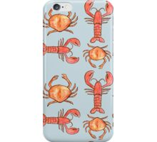 Lobster and Crab Pattern  iPhone Case/Skin