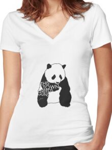 ttng animals Women's Fitted V-Neck T-Shirt